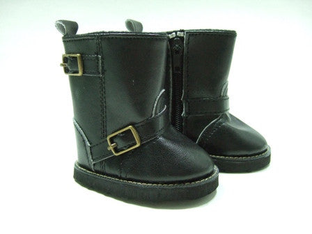 DRESS MY DOLL Boot Smoothe Black w/buckle