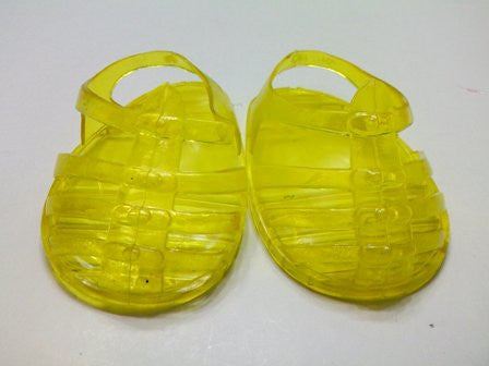 DRESS MY DOLL Shoes Yellow Jely Sandles