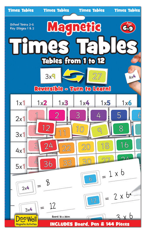 FIESTA CRAFT Magnetic Times Table 1-12