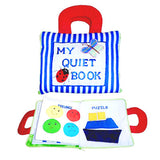 DYLES Quiet Book Blue Stripe