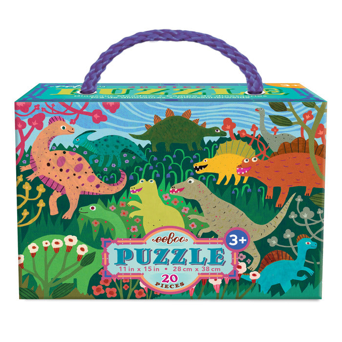 EEBOO - Puzzle Mini - Dinosaur Meadow - 20pc