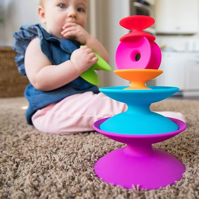FAT BRAIN TOYS - Spoolz - Stacking Toy