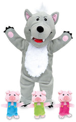 FIESTA CRAFTS Hand Puppet w/finger puppets Three Little Pigs