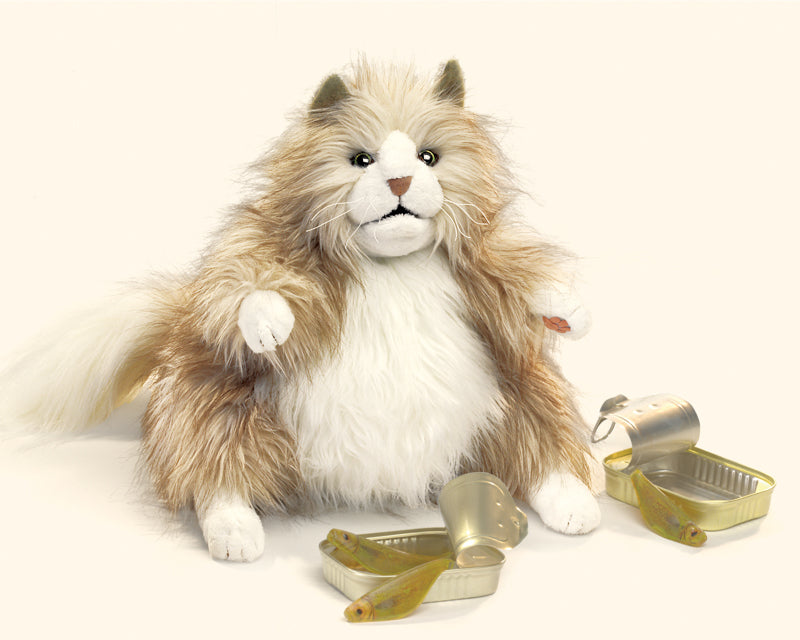 FOLKMANIS HAND PUPPET -  Cat, Fluffy