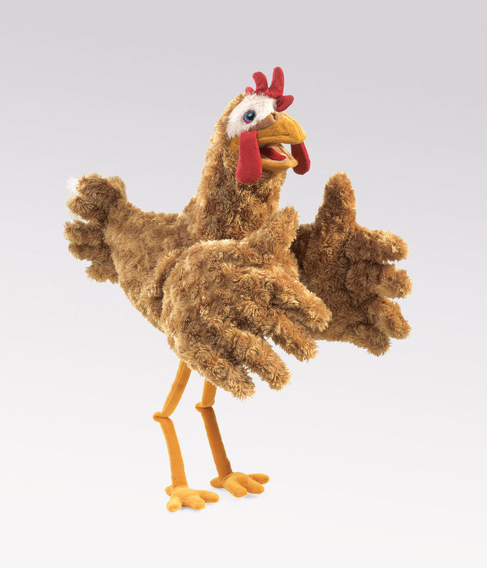 FOLKMANIS HAND PUPPET Chicken Large