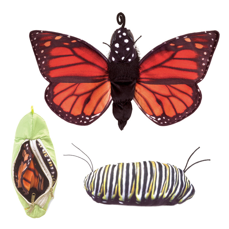 FOLKMANIS Life Cycle Puppet - Monarch Butterfly