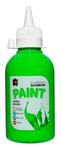 EC Rainbow Paint 250ml Fluro Green
