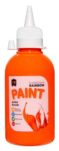 EC Rainbow Paint 250ml Fluro Orange