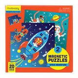 Mudpuppy - Magnetic Puzzle - Space Advent - 2 x 20 Pce