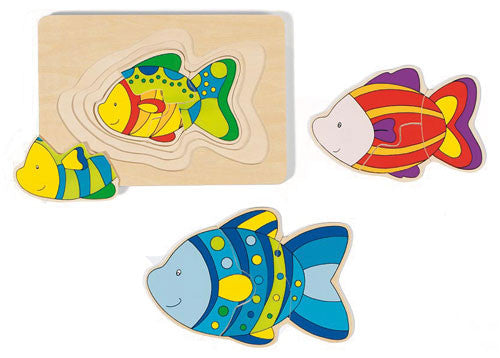 GOKI 4 Layer Fish Puzzle-wooden