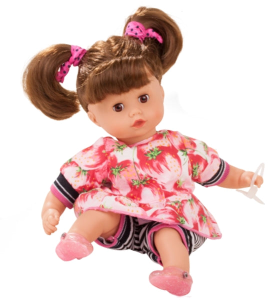 GOTZ Muffin Baby Strawberry with Brown Hair Doll 33cm