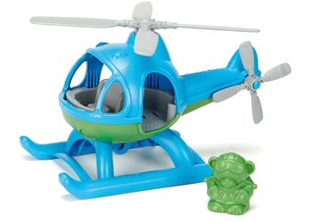 GREEN TOYS Blue Helicopter with Pilot