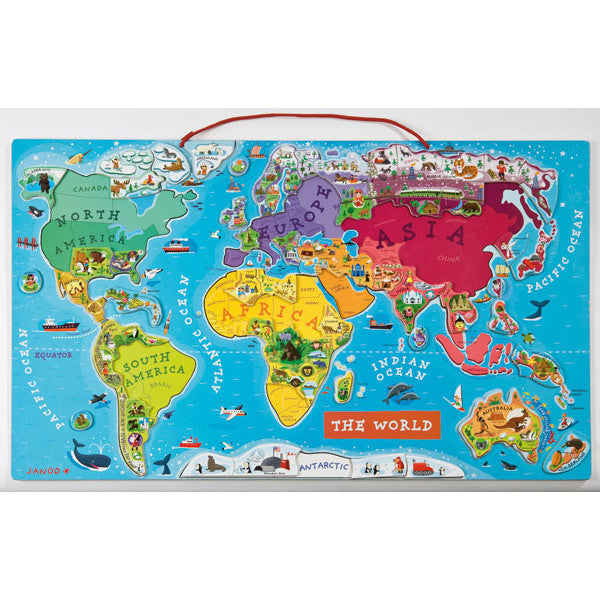 JANOD Magnetic World Map Puzzle Toys2Learn