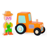 JANOD Story Set Tractor w/Farmer