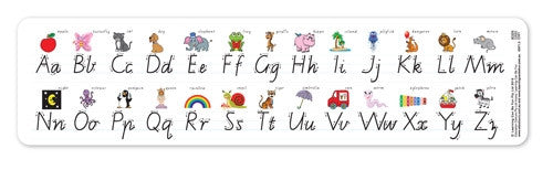 Learning Can Be Fun - Literacy - Alphabet Desk Strip VIC Modern Cursive 30pk