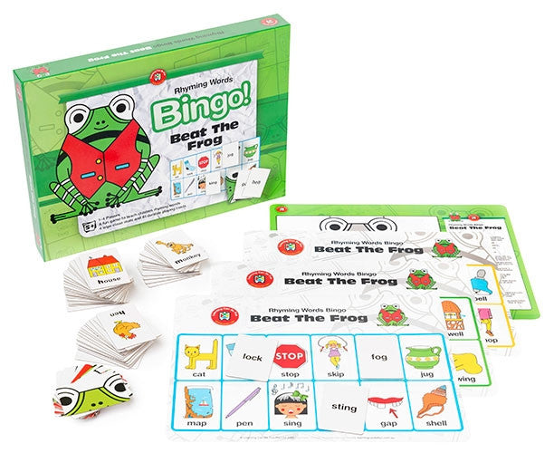 Learning Can Be Fun - Literacy - Beat The Frog (Rhyming Words) Bingo