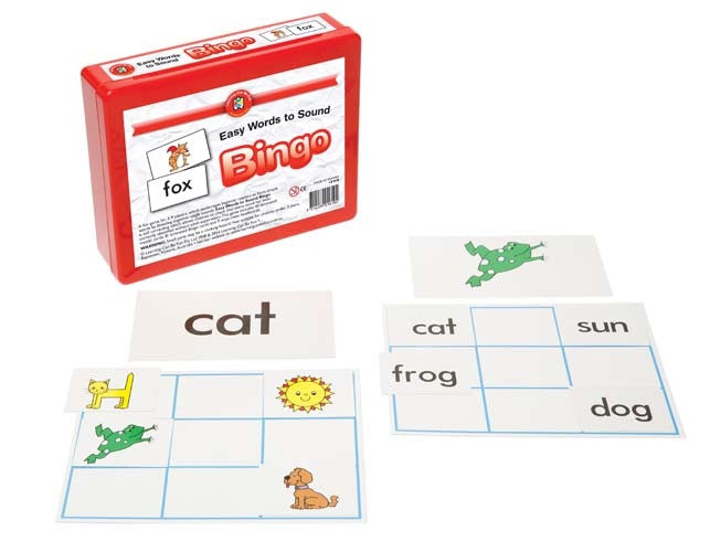 Learning Can Be Fun - Literacy - Easy Words To Sound Bingo 9 Boards, 40 Cards