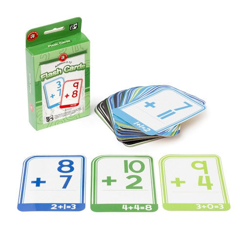 Learning Can Be Fun - Numeracy - Addition 0-12 Flashcards