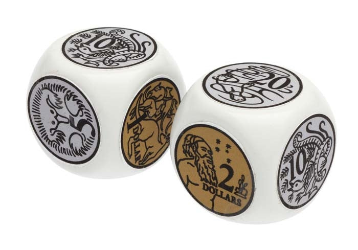 Learning Can Be Fun - Numeracy - Jumbo Australian Coin Dice Set 2