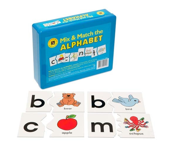 Learning Can Be Fun - Literacy - Mix & Match The Alphabet 72 Cards & Case