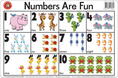 Learning Can Be Fun - Placemat - Numbers Are Fun