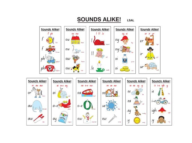 Learning Can Be Fun - Literacy - Sounds Alike Teacher Pack