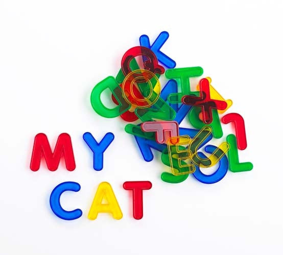 Learning Can Be Fun - Literacy - Transparent Letters 26 pc