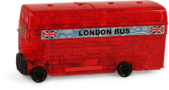 CRYSTAL PUZZLE 3D Red London Bus