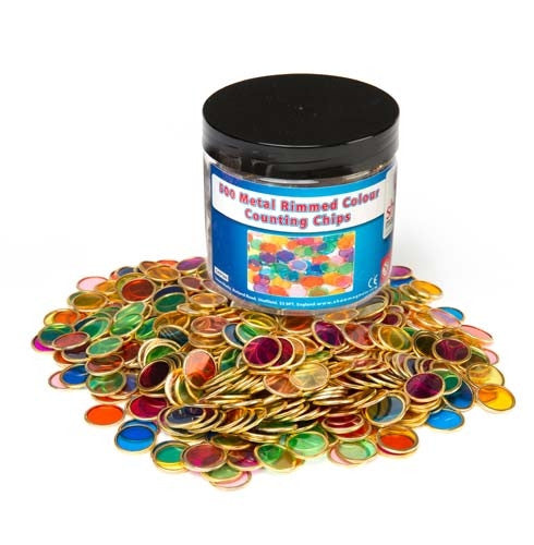 Learning Can Be Fun - Magnet - Metal Rimmed Counting Chips 500