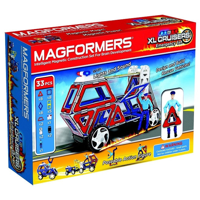 MAGFORMERS XL Cruiser Emergency Set 33