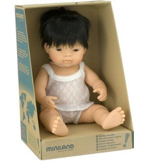 MINILAND Anatomically Correct Baby Doll Asian Boy 38cm