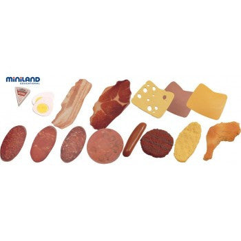 MINILAND EDUCATIONAL Food Cold Meats Assortment, 15 pcs
