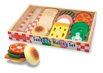 M&D Wooden Sandwich Making Set 17pc