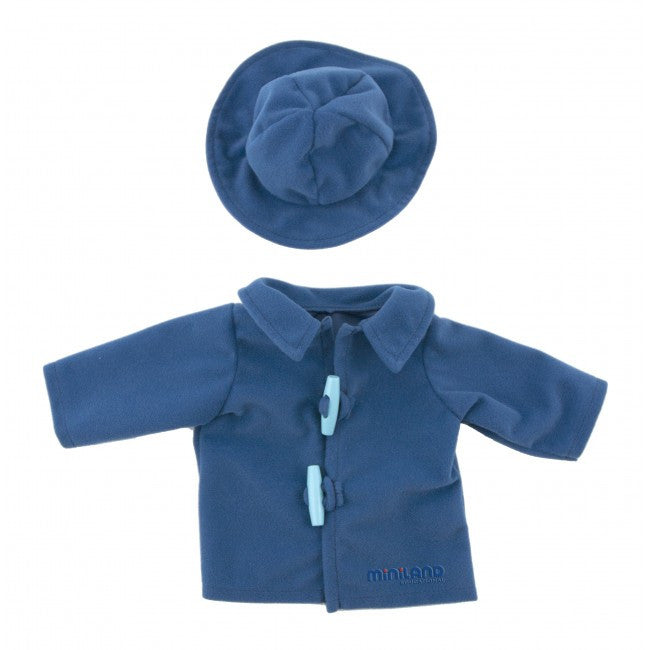 MINILAND Clothing Blue Fleece Jacket and Cap 40-42cm