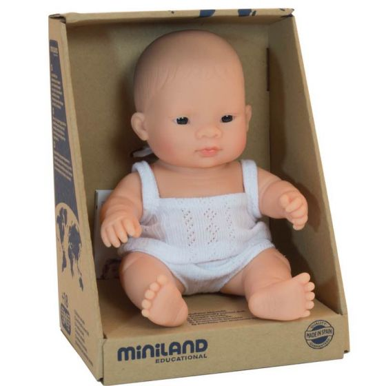 MINILAND Anatomically Correct Baby Doll Asian Girl 21cm