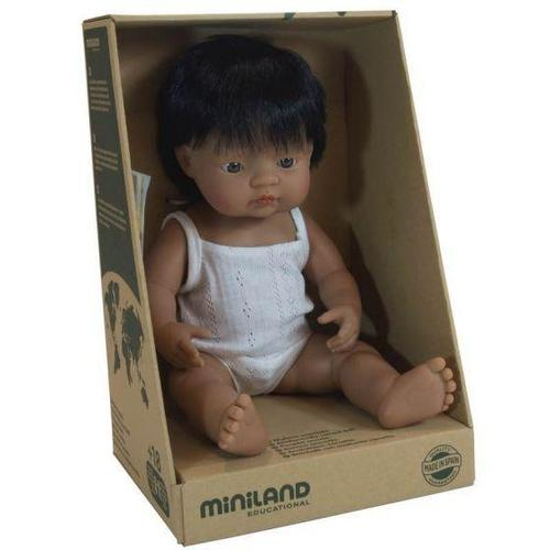 MINILAND Anatomically Correct Baby Doll Latin American Boy 38cm