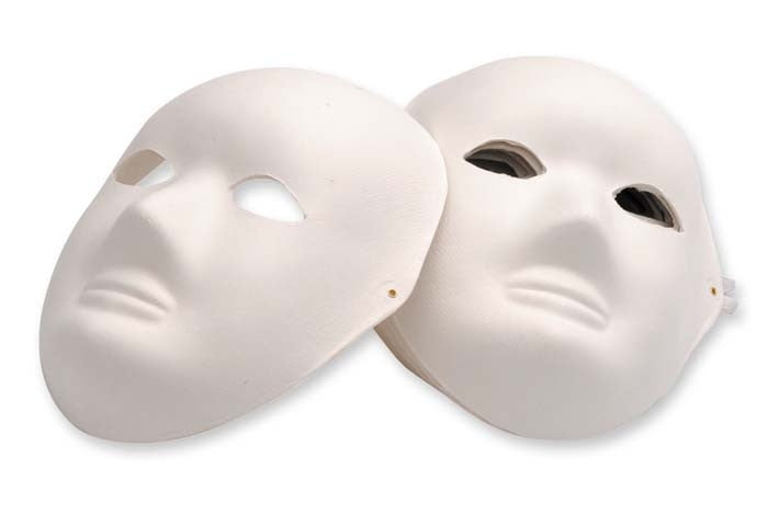 EC Papier Mache Masks Single - Full Face