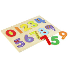 MASTERKIDZ Chunky Wooden Numbers Puzzle