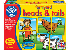 OCHARD TOYS Farmyard Heads & Tails Game