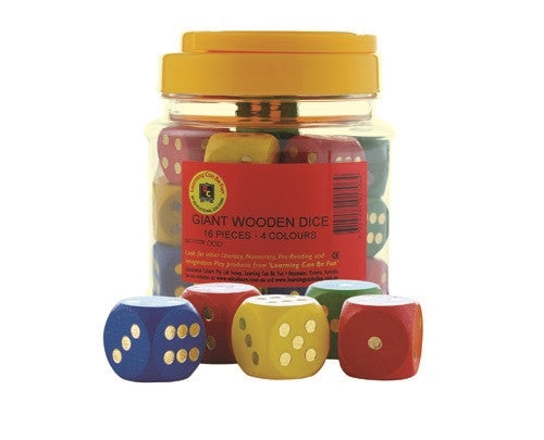 Learning Can Be Fun - Numeracy - Dice Giant Wooden Jar 16