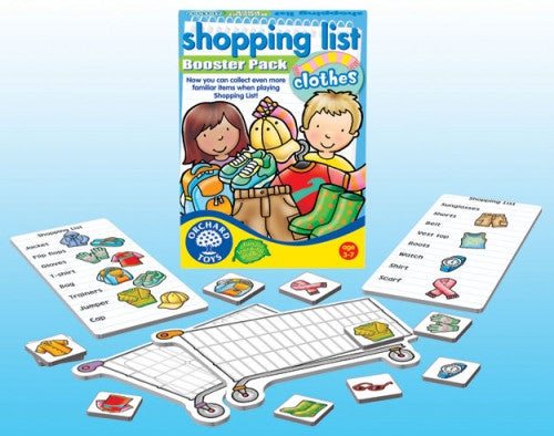 ORCHARD TOYS Shopping List Booster – Clothes