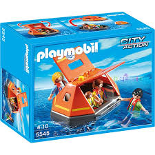 PLAYMOBIL City Action Coast Guard Rescue Life Raft 5545