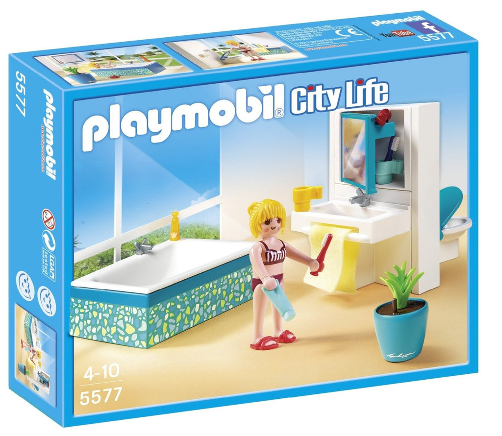 PLAYMOBIL Dollhouse Modern Bathroom 5577
