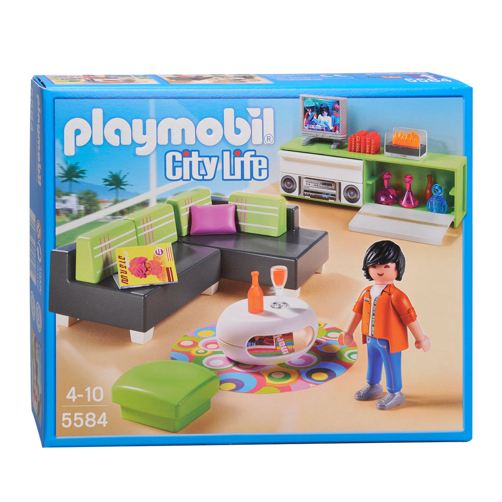 PLAYMOBIL Dollhouse Modern Living Room 5584