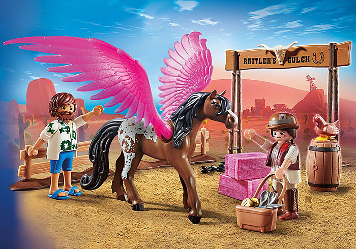 PLAYMOBIL - Marla & Del with Pegasus 70074