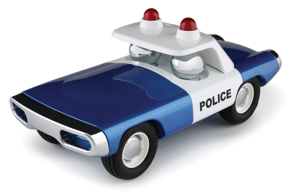 PLAYFOREVER Heat Blue and White Police Car