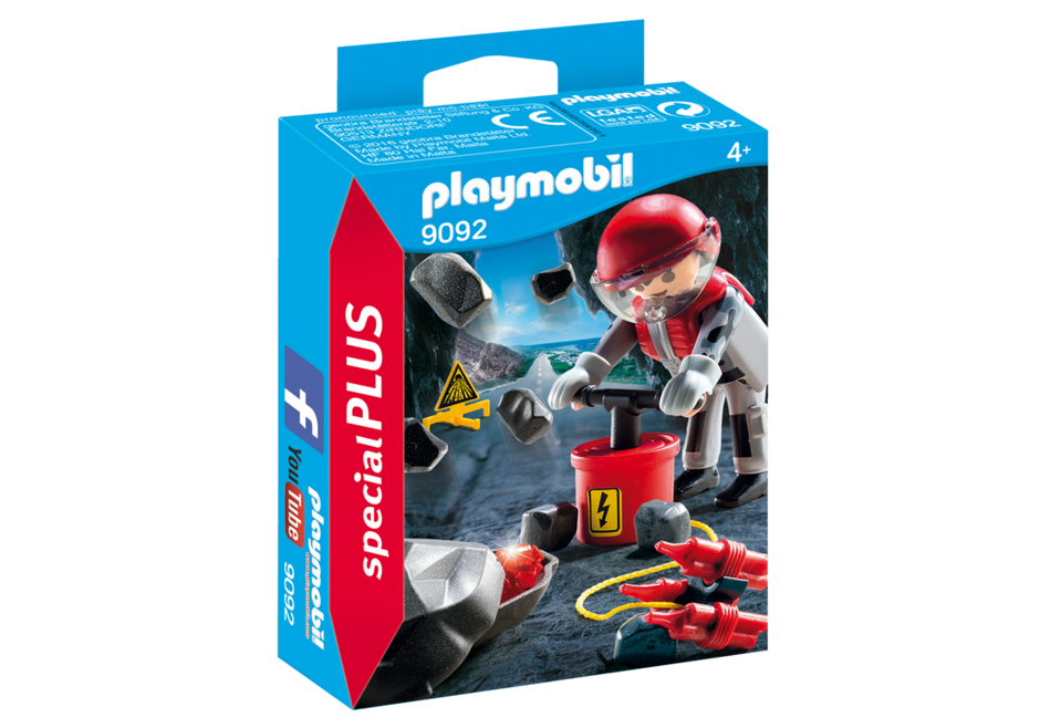 PLAYMOBIL Mining Engineer/Rock Blaster with Rubble 9092