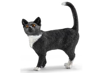 SCHLEICH Black & White Cat Standing - 13770