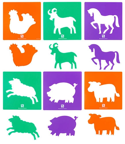 EC Stencils Farm Animals Set 6
