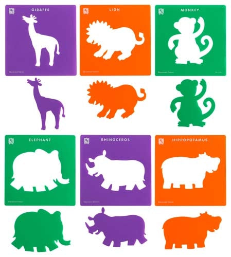 EC Stencils Jungle Animals Set 6